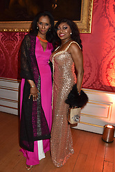 Zeinab Badawi and Patti Boulaye at the Tusk Ball at Kensington Palace, London, England. 09 May 2019.