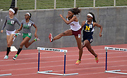 Rachel Glenn of Long Beach Wilson wins the girls 300m hurdles in 41.01 during the 2019 CIF Southern Section Masters Meet in Torrance, Calif., Saturday, May 18, 2019.