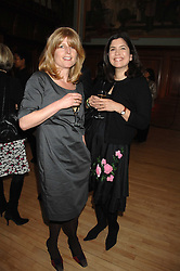 Left to right, RACHEL JOHNSON and KIMBERLEY FORTIER at a party to celebrate the publication of 'Seven Secrets of Successful Parenting' by Karen Doherty and Georgia Coleridge, held at Chelsea Town Hall, King's Road, London on 28th April 2008.<br />