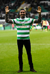 Celtic parade new signing Marvin Compper at half time during the Scottish Premiership match at Celtic Park, Glasgow.