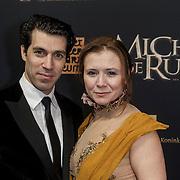 NLD/Amsterdam/20150126 - Premiere Michiel de Ruyter, Oren Schrijver en partner Celine Purcell
