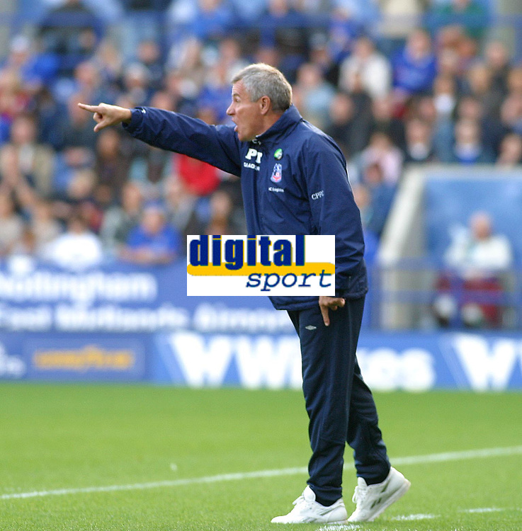 Photo: Dave Linney.<br />Leicester City v Crystal Palace. Coca Cola Championship. 21/10/2006.Crystal Palace Mgr Peter Taylor