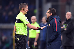 24.01.2018, Stadio Luigi Ferraris, Genua, ITA, Serie A, Sampdoria Genua vs AS Roma, 3. Runde, im Bild di francesco eusebio, orsato daniele // di francesco eusebio, orsato daniele during the Italian Serie A 3th round match between Sampdoria Genua and AS Roma at the Stadio Luigi Ferraris in Genua, Italy on 2018/01/24. EXPA Pictures © 2018, PhotoCredit: EXPA/ laPresse/ Tano Pecoraro<br /> <br /> *****ATTENTION - for AUT, SUI, CRO, SLO only*****