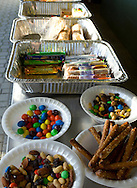Augusta, New Jersey - Food set out for runners during the 3 Days at the Fair races at Sussex County Fairgrounds on May 11, 2012.