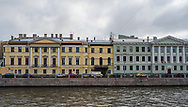 St Petersburg, Russia -- July 20, 2019. Buildings on the Cana; on the way to the Church of Spilled Blood.