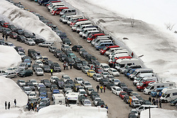 Parkplace for cars at Flying Hill Individual in 2nd day of 32nd World Cup Competition of FIS World Cup Ski Jumping Final in Planica, Slovenia, on March 20, 2009. (Photo by Vid Ponikvar / Sportida)