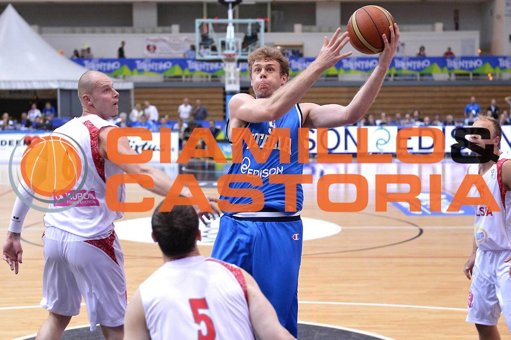 DESCRIZIONE : Trento Basket Cup 2013 Italia Polonia<br /> GIOCATORE : Nicol&ograve; Melli<br /> CATEGORIA : Tiro gancio<br /> SQUADRA : Nazionale Italia Uomini Maschile<br /> EVENTO : Trento Basket Cup 2013 Italia Polonia<br /> GARA : Italia Polonia<br /> DATA : 09/08/2013<br /> SPORT : Pallacanestro<br /> AUTORE : Agenzia Ciamillo-Castoria/GiulioCiamillo<br /> Galleria : FIP Nazionali 2013<br /> Fotonotizia : Trento Basket Cup 2013 Italia Polonia<br /> Predefinita :