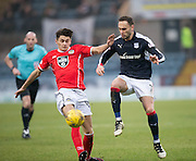 Dundee's Tom Hateley and St Mirren's Kyle Magennis  - Dundee v St Mirren in the William Hill Scottish Cup at Dens Park, Dundee. Photo: David Young<br /> <br />  - © David Young - www.davidyoungphoto.co.uk - email: davidyoungphoto@gmail.com