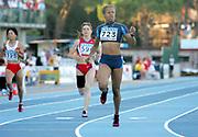 Jul 15, 2014; Grosseto, Italy; Natasha Hastings (USA) wins the womens 400m in 52.04 in the 2004 IAAF World Junior Championships at Stadio Olimpico Carlo Zecchini. Photo by Jiro Mochizuki