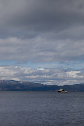 """Boat on Lake Tahoe 2"" - This boat was photographed on the West shore of Lake Tahoe."