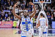 DESCRIZIONE : Campionato 2014/15 Dinamo Banco di Sardegna Sassari - Dolomiti Energia Aquila Trento Playoff Quarti di Finale Gara4<br /> GIOCATORE : Shane Lawal<br /> CATEGORIA : Ritratto Esultanza Mani<br /> SQUADRA : Dinamo Banco di Sardegna Sassari<br /> EVENTO : LegaBasket Serie A Beko 2014/2015 Playoff Quarti di Finale Gara4<br /> GARA : Dinamo Banco di Sardegna Sassari - Dolomiti Energia Aquila Trento Gara4<br /> DATA : 24/05/2015<br /> SPORT : Pallacanestro <br /> AUTORE : Agenzia Ciamillo-Castoria/L.Canu