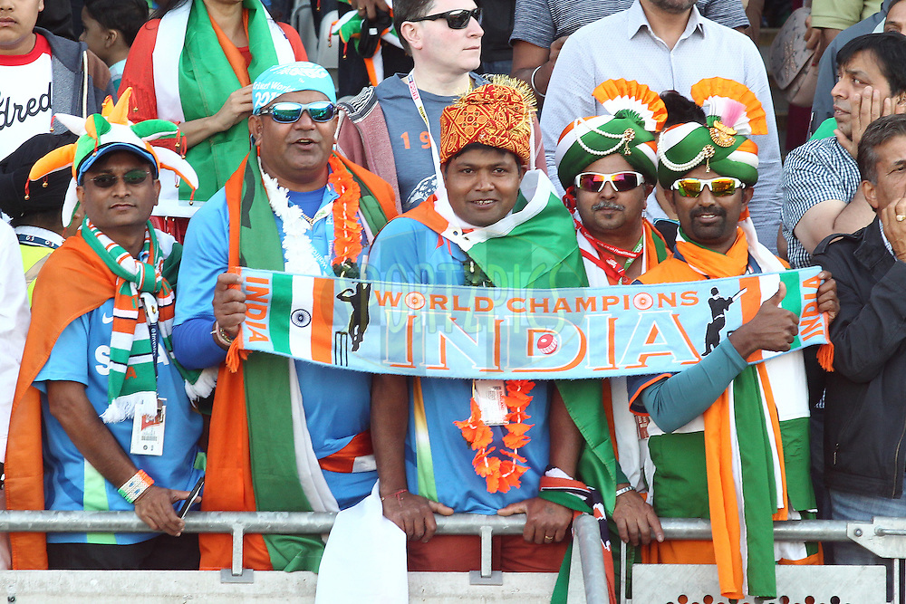 Indian fans during the International Twenty20 (T20) match between England and India held at Edgbaston Cricket Ground in Birmingham, England on the 7th September 2014<br /> <br /> Photo by Shaun Roy / SPORTZPICS/ BCCI