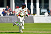 Haseeb Hameed of Lancashire runs a quick single during the Specsavers County Champ Div 1 match between Somerset County Cricket Club and Lancashire County Cricket Club at the Cooper Associates County Ground, Taunton, United Kingdom on 14 September 2017. Photo by Graham Hunt.