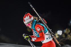February 12, 2018 - Pyeongchang, Gangwon, South Korea - Julia Ransom of Canada competing at Women's 10km Pursuit, Biathlon, at olympics at Alpensia biathlon stadium, Pyeongchang, South Korea. on February 12, 2018. Ulrik Pedersen/Nurphoto  (Credit Image: © Ulrik Pedersen/NurPhoto via ZUMA Press)