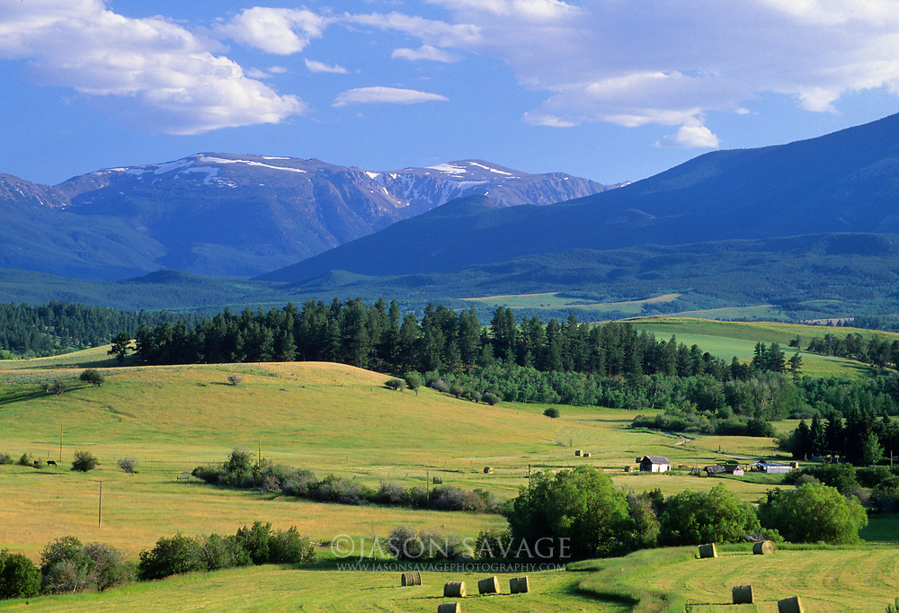 Stillwater Valley at the base of the Beartooth Mountains.