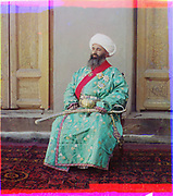 What Russian Empire Looked Like Before 1917… In Colour<br /> <br /> <br /> The Sergei Mikhailovich Prokudin-Gorskii Collection features colour photographic surveys of the vast Russian Empire made between ca. 1905 and 1915. Frequent subjects among the 2,607 distinct images include people, religious architecture, historic sites, industry and agriculture, public works construction, scenes along water and railway transportation routes, and views of villages and cities. An active photographer and scientist, Prokudin-Gorskii (1863-1944) undertook most of his ambitious colour documentary project from 1909 to 1915. <br /> <br /> Photo Shows; Kush-Beggi, Minister of the Interior, Bukhara. (between 1905 and 1915)<br /> ©Library of Congress/Prokudin-Gorskii/Exclusivepix Media