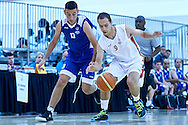 Marek Prus SO Poland athlete in action while basketball match SO Poland v SO Israel during second day of the Special Olympics World Games Los Angeles 2015 on July 26, 2015 on Galen Center at University of Southern California in Los Angeles, USA.<br /> USA, Los Angeles, July 26, 2015<br /> <br /> Picture also available in RAW (NEF) or TIFF format on special request.<br /> <br /> For editorial use only. Any commercial or promotional use requires permission.<br /> <br /> Adam Nurkiewicz declares that he has no rights to the image of people at the photographs of his authorship.<br /> <br /> Mandatory credit:<br /> Photo by © Adam Nurkiewicz / Mediasport