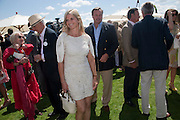 MARCHIONESS OF MILFORD  HAVEN; MARQUIS OF MILFORD HAVEN, Cartier International Polo. Smiths Lawn. Windsor. 24 July 2011. <br /> <br />  , -DO NOT ARCHIVE-© Copyright Photograph by Dafydd Jones. 248 Clapham Rd. London SW9 0PZ. Tel 0207 820 0771. www.dafjones.com.