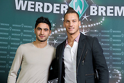 11.12.2011, El Mundo, Bremen, GER, Weihnachtsfeier Werder Bremen 2011, im BildMehmet Ekici (Bremen #20) und Marko Arnautovic (Bremen #7).EXPA Pictures © 2011, PhotoCredit: EXPA/ nph/ Kokenge..***** ATTENTION - OUT OF GER, CRO *****