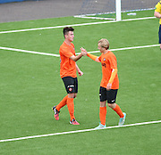 Scott Lochead congraulates Aaron Duke after the striker had equalised for Dundee United - Dundee v Dundee United under 20s<br /> <br />  - &copy; David Young - www.davidyoungphoto.co.uk - email: davidyoungphoto@gmail.com