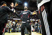 Dec. 2, 2010; Cleveland, OH, USA;  Miami Heat small forward LeBron James (6) is introduced prior to the game against the Cleveland Cavaliers at Quicken Loans Arena. Mandatory Credit: Jason Miller-US PRESSWIRE