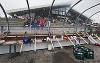 ROTTERDAM - Dug out met clubhuis voor  de hoofdklassewedstrijd hockey tussen de heren van Rotterdam en Voordaan (1-1).  .  COPYRIGHT KOEN SUYK