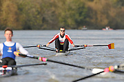 London GREAT BRITAIN, Wingfields competitior,  Mahe DRYSDALE, Tideway Scullers School, on  the Championship Course,   Putney to Chiswick, River Thames, [Photo, Peter Spurrier/Intersport-images] .. Rowing Course: River Thames, Championship course, Putney to Mortlake 4.25 Miles,