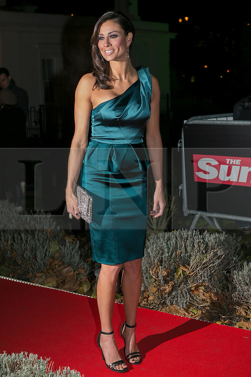 © licensed to London News Pictures. London, UK 06/12/2012. Melaine Sykes attending The Sun Military Awards at Imperial War Museum. Photo credit: Tolga Akmen/LNP
