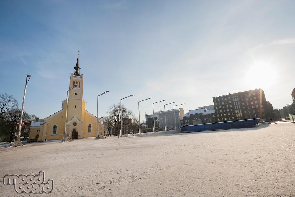 Exterior of St. John's Church at freedom square; Tallinn; Estonia; Europe