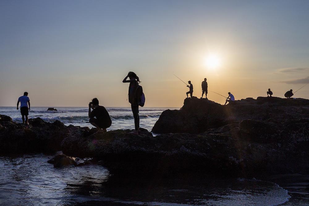 Scenes at Echo beach, Canggu.