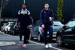 Levi Bradley of Bristol Flyers and Josh Rogers of Bristol Flyers heads towards the bus before leaving the Village Hotel to travel to Worcester Wolves - Photo mandatory by-line: Ryan Hiscott/JMP - 01/11/2019 - BASKETBALL - University of Worcester - Bristol, England - Worcester Wolves v Bristol Flyers - British Basketball League Cup