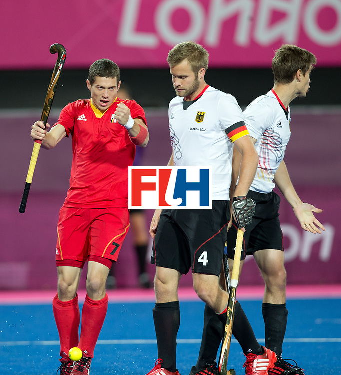 London Olympics 30072012.Mens Hockey, GERMANY V BELGIUM.John John Dohmen.Photo: Grant Treeby