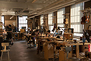The classroom workshop of the Violin Making and Repair program at The North Bennett Street School, Boston.