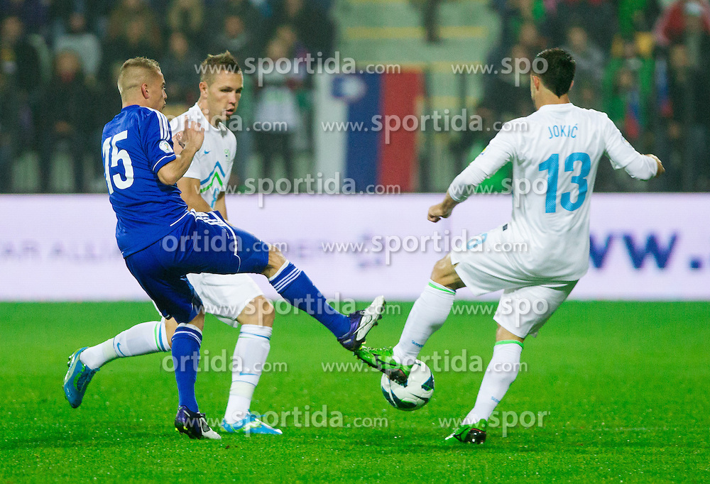 Jasmin Kurtic of Slovenia  during football match between National teams of Slovenia and Cyprus in 3rd Round of Group E of FIFA World Cup 2014 Qualification on October 12, 2012 in Stadium Ljudski vrt, Maribor, Slovenia. (Photo By Vid Ponikvar / Sportida)