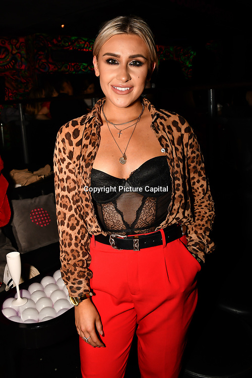 Frankie Maddin attend Bachelor girls wrap party after Channel 5 serial of The Bachelor girls 2019 UK  17 desperate female complete to win Alex Marks. Five Eliminated girls continues enjoy the single life party at Balle Ballerson in fact, in the UK there are 1.1 millions female more than male on 27 March 2019, London, UK.