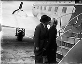1952 - Sean Lemass leaves for Frankfurt.