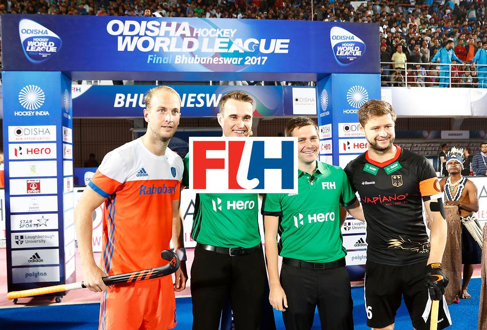 Odisha Men's Hockey World League Final Bhubaneswar 2017<br /> Match id:16<br /> Germany v Netherlands<br /> Foto: Line Up<br /> COPYRIGHT WORLDSPORTPICS KOEN SUYK