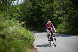 Evelyn Stevens (USA) of Boels-Dolmans Cycling Team starts the descent during the Giro Rosa 2016 - Stage 7. A 21.9 km individual time trial from Albisola to Varazze, Italy on July 8th 2016.