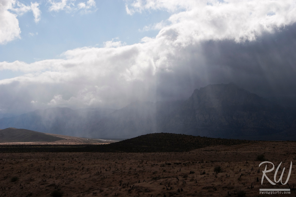 God Beams and Rain Clouds, Red Rock Canyon National Conservation Area, Nevada