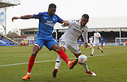Omar Bogle of Peterborough United in action with Ezri Konsa of Charlton Athletic - Mandatory by-line: Joe Dent/JMP - 10/03/2018 - FOOTBALL - ABAX Stadium - Peterborough, England - Peterborough United v Charlton Athletic - Sky Bet League One