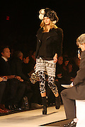 Model at The 2009 Diane Von Furstenbeg Fall Fashion Show held at the Tent in  Bryant Park in New York City, NY