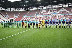 17.07.2010,  Augsburg, GER, FIFA U20 Womens Worldcup, Nigeria vs Japan,  im Bild beide Teams vor dem Anstoss , EXPA Pictures © 2010, PhotoCredit: EXPA/ nph/  Straubmeier / SPORTIDA PHOTO AGENCY