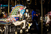 The Merry-Go-Round awaits customers during the New Mexico State Fair, Albuquerque, New Mexico.