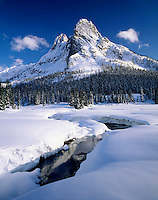 Liberty Bell Mountain from Washington Pass, North Cascades Washington USA