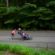 Although thier adopted son, Donald, 20, suffers from Cerebral Palsy, that hasn't stopped the father, Michael, from running long-distance events with Donald, utilizing their customized racing wheelchair. When they participate in these events, they raise money for Ainsley's Angels of America, an organization that helps people with special needs participate in endurance events. For Novant Health