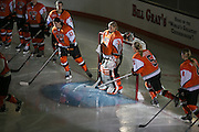 The RIT Women's hockey team takes the ice before an exhibition game at RIT's Gene Polisseni Center on Monday, September 29, 2014.