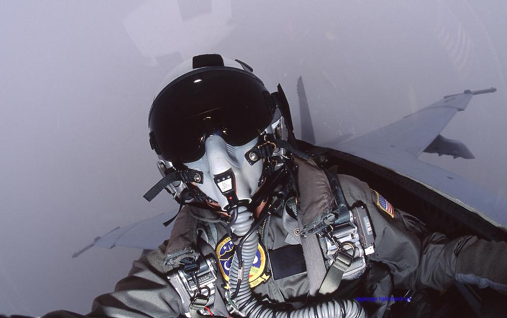 Military Pilot Portrait in flight
