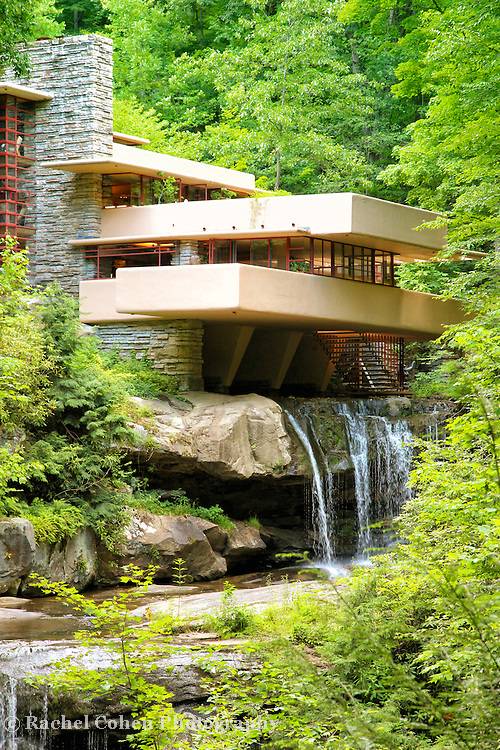 &quot;Glance at Fallingwater&quot;<br /> <br /> A vertical image of Fallingwater during summer!