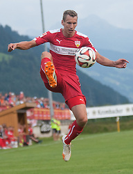 06.08.2014, Sportplatz, Fügen, AUT, Testspiel, VfB Stuttgart vs Caykur Rizespor, im Bild Florian Klein (Vfb Stuttgart) // during a friendly Match between VfB Stuttgart and Caykur Rizespor at the Football Stadium in Fügen, Austria on 2014/08/06. EXPA Pictures © 2014, PhotoCredit: EXPA/ Jakob Gruber