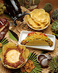 assorted mexican style foods taco salad chips melted cheese hot peppers cactus castanets Bon Appetit concept conceptual metaphor lifestyle travel Dine Entertaining Entice Enticing Fed Feed Feeding Flavor Flavorful Foodshot Fragrant Haute Gourmet Gourmand Good Gratify Gratifying Grocery Healthfood Hospitable Hospitality Ingredient Lunch Market Munchy Marketplace Natural Organic Portion Pretty Produce Refresh Refreshing Satisfying Satisfaction Seasonal Serve Serving Smell Still life